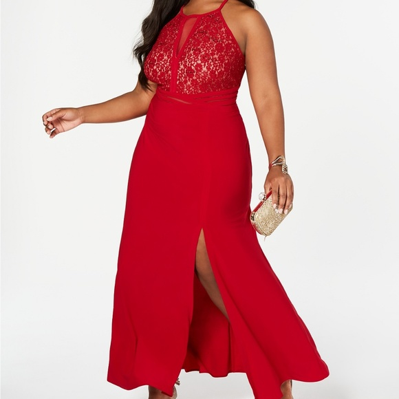 Morgan & Co. Dresses & Skirts - MORGAN & COMPANY Trendy Plus Size Open-Back Gown